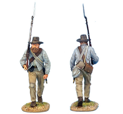 ACW006 CONFEDERATE INFANTRY ADVANCING