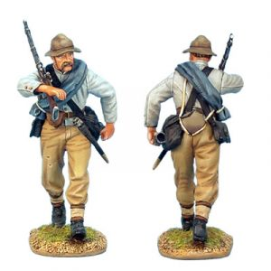 ACW007 CONFEDERATE INFANTRY ADVANCING