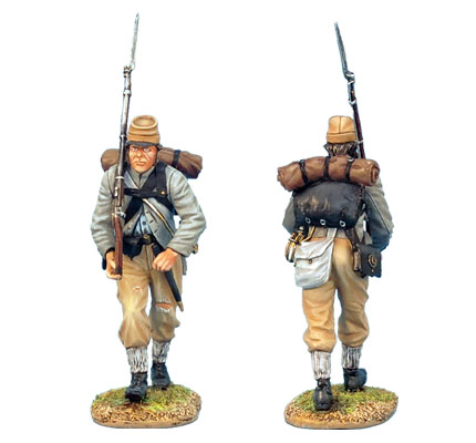 ACW008 CONFEDERATE INFANTRY ADVANCING