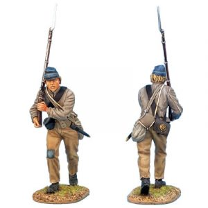 ACW010 CONFEDERATE INFANTRY ADVANCING