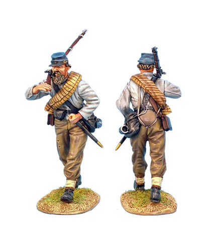 ACW011 CONFEDERATE INFANTRY ADVANCING