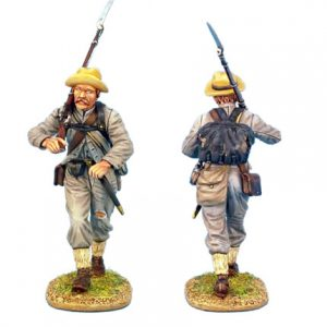 ACW012 CONFEDERATE INFANTRY ADVANCING