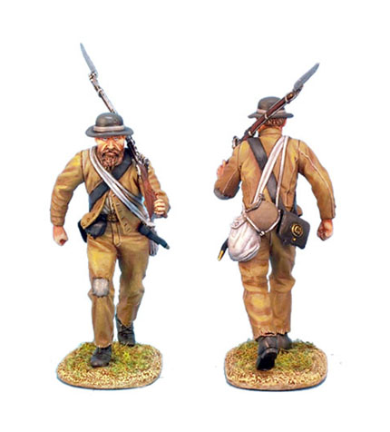 ACW014 CONFEDERATE INFANTRY ADVANCING