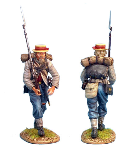 ACW016 CONFEDERATE INFANTRY ADVANCING