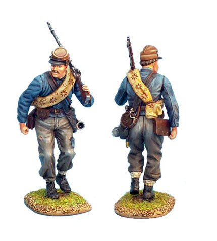 ACW017 CONFEDERATE INFANTRY ADVANCING
