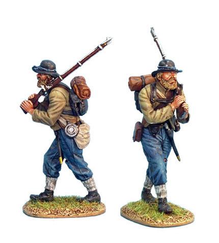 ACW020 CONFEDERATE INFANTRY ADVANCING