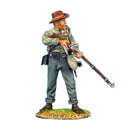 ACW046 CONFEDERATE INFANTRY STANDING READY