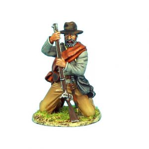 ACW056 CONFEDERATE INFANTRY KNEELING LOADING