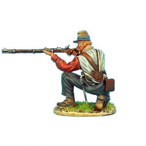 ACW057 CONFEDERATE INFANTRY KNEELING FIRING
