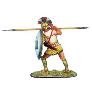 AG004 GREEK HOPLITE WITH SNAKE SHIELD AND LINEN ARMOUR
