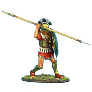 AG007 GREEK HOPLITE WITH BRONZE REINFORCED LINEN ARMOUR AND CORINTHIAN HELMET
