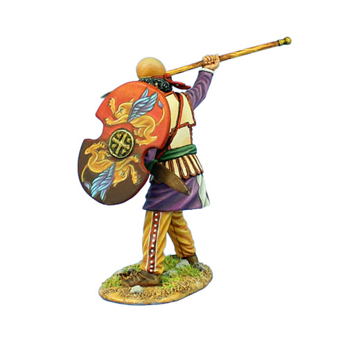 AG049 PERSIAN WARRIOR WITH SPEAR AND SHIELD
