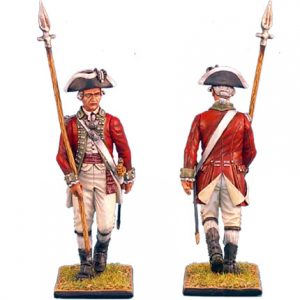 AWI021 BRITISH 5TH FOOT OFFICER WITH SPONTOON