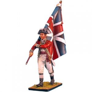 AWI023 BRITISH 5TH FOOT STANDARD BEARER WITH UNION JACK