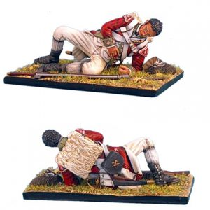 AWI035 BRITISH 5TH FOOT GRENADIER LAYING WOUNDED