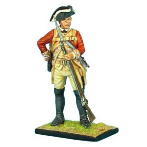 AWI053 BRITISH 22ND FOOT STANDING REACHING FOR CARTRIDGE
