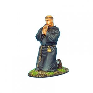 CRU062 MONK KNEELING PRAYING