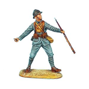 GW015 FRENCH INFANTRY THROWING GRENADE - 34TH INFANTRY REGIMENT