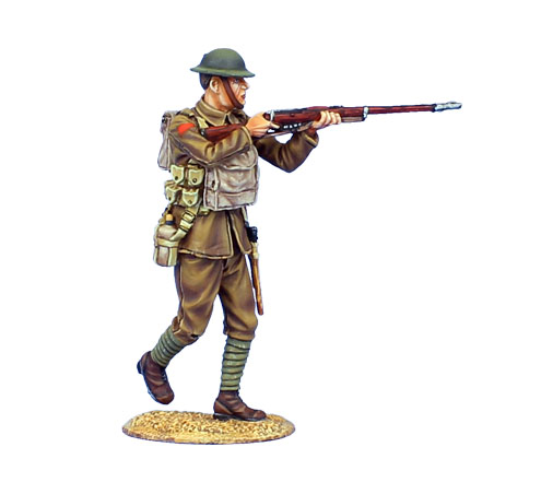 GW026 BRITISH INFANTRY OFFICER WITH WEBLEY REVOLVER - 11TH ROYAL FUSILIERS