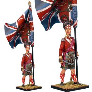NAP0205 92nd GORDON HIGHLANDERS STANDARD BEARER - REGIMENTAL COLOURS