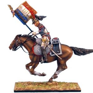 NAP0243 FRENCH 5th CUIRASSIERS STANDARD BEARER CHARGING