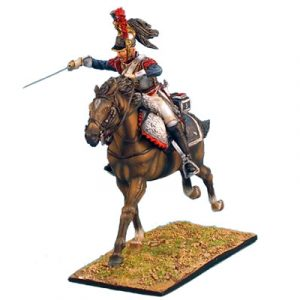 NAP0245 FRENCH 5th CUIRASSIER TROOPER WITH CARBINE CHARGING