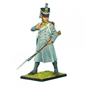 NAP0326 FRENCH 18th LINE INFANTRY FUSILIER STANDING IN GREATCOAT