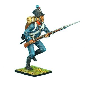 NAP0371 FRENCH 1ST LIGHT INFANTRY CHASSEUR CHARGING