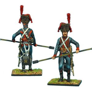 NAP0403 FRENCH GUARD HORSE ARTILLERY GUNNER WITH RAMMER/SPONGE