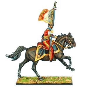"NAP0420 2nd DUTCH ""RED"" LANCERS OF THE IMPERIAL GUARD STANDARD BEARER"
