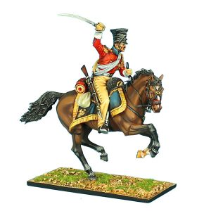 "NAP0424 2nd DUTCH ""RED"" LANCERS OF THE IMPERIAL GUARD TROOPER WITH SWORD #1"