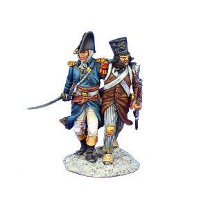 NAP0492 FRENCH OFFICER AND GRENADIER NCO VIGNETTE - 18th LINE INFANTRY