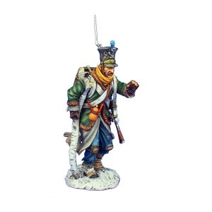 NAP0494 POLISH FUSILIER TRUDGING WITH BIRCH WALKING STICK - 12th LINE INFANTRY