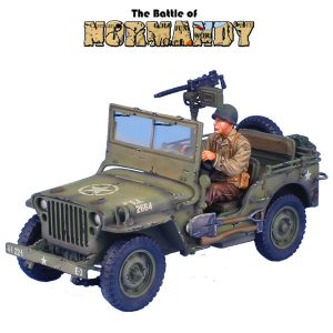 NOR050 US WILLYS JEEP WITH DRIVER - E Co, 22nd INF, 4th DIVISION