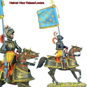 REN032 FRENCH KINGS MOUNTED STANDARD BEARER
