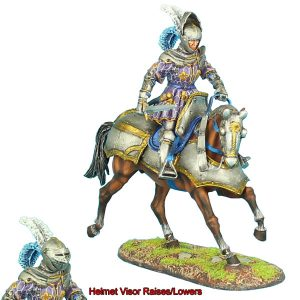 REN035 FRENCH MOUNTED KNIGHT WITH SWORD #1