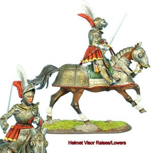 REN036 FRENCH MOUNTED KNIGHT WITH SWORD #2
