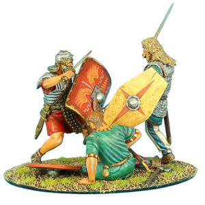 ROM025 GERMAN WARRIOR CHARGING IMPERIAL ROMAN VIGNETTE