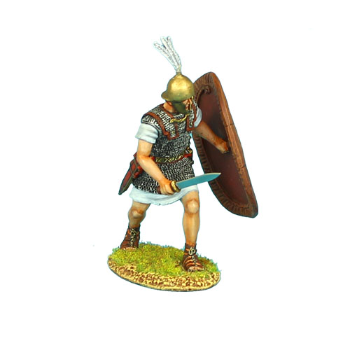 ROM065 CAESARIAN ROMAN LEGIONARY WITH GLADIUS AND SHIELD COVER