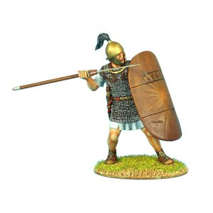 ROM068 CAESARIAN ROMAN LEGIONARY WITH PILUM AND SHIELD COVER