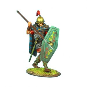 ROM088 NOBLE GALLIC WARRIOR WITH SPEAR