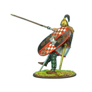 ROM089 NOBLE GALLIC WARRIOR STRUCK BY PILUM