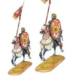 ROM118 IMPERIAL ROMAN AUXILIARY CAVALRY STANDARD BEARER - ALA II FLAVIA