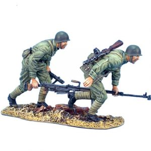 RUSSTAL010 RUSSIAN PTRS-41 ANT-TANK RIFLE TEAM MOVING