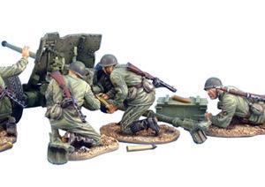 RUSSTAL012 RUSSIAN 45mm ANTI-TANK GUN WITH 4 CREW