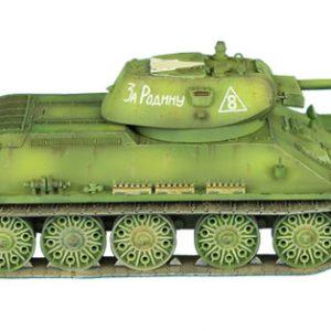 RUSSTAL018 RUSSIAN T-34 76mm STZ TANK WITH CAST TURRET