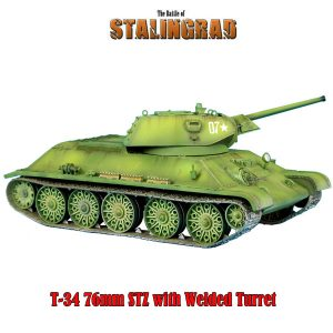 RUSSTAL019 RUSSIAN T-34 76mm STZ TANK WITH WELDED TURRET