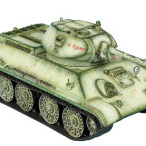 RUSSTAL020 RUSSIAN T-34 76mm STZ TANK WITH CAST TURRET - WINTER