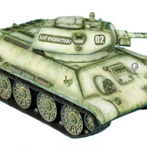 RUSSTAL021 RUSSIAN T-34 76mm STZ TANK WITH WELDED TURRET - WINTER