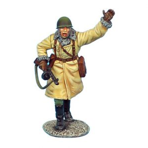 RUSSTAL023 RUSSIAN OFFICER ADVANCING WITH PPSH 41 SMG